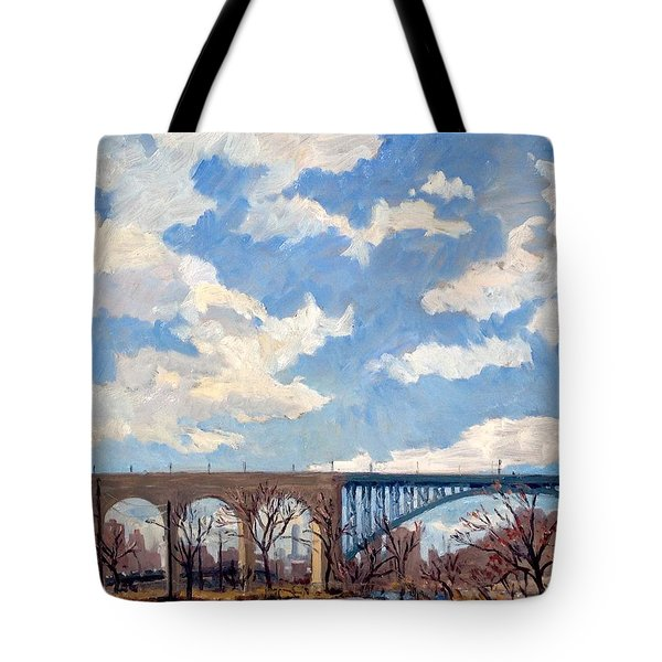 High Bridge Bright Sky Nyc Tote Bag