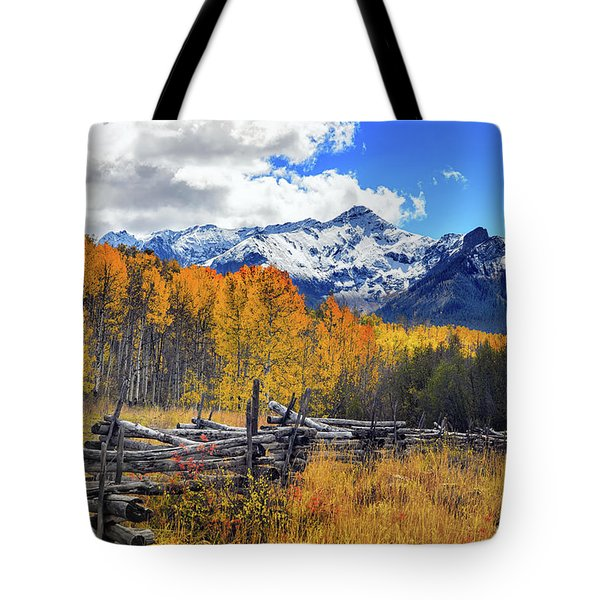 Tote Bag featuring the photograph High County Ablaze by Rick Furmanek