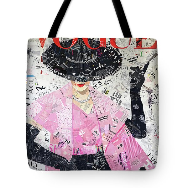 High Fashion Pink Tote Bag
