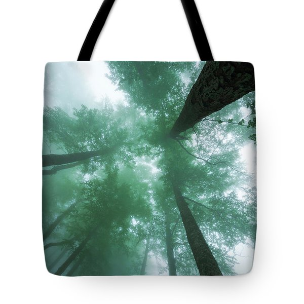 High In The Mist Tote Bag
