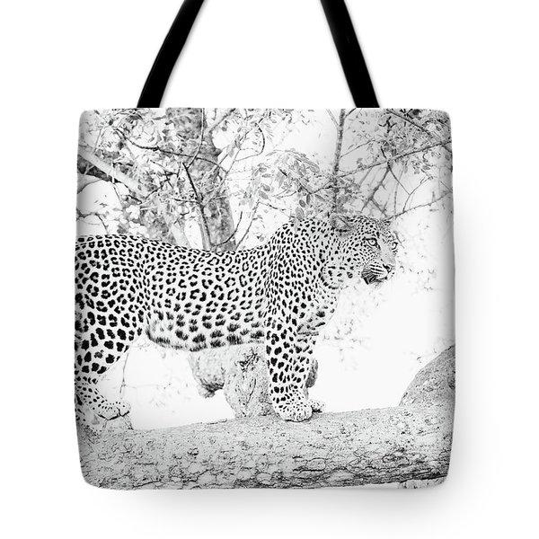 High Key Leopard Tote Bag