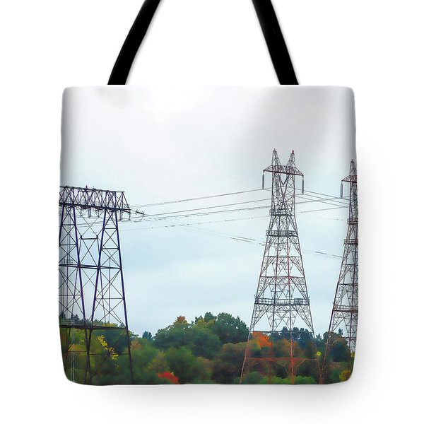 High-voltage Power Transmission Towers  2 Tote Bag