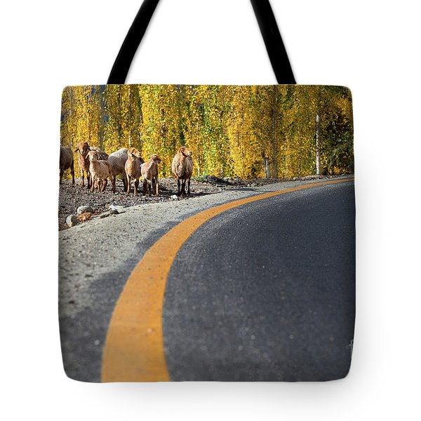 Highway Story Tote Bag