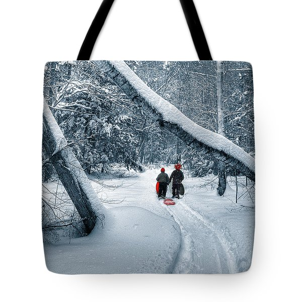 Hiking Into The Gully Tote Bag