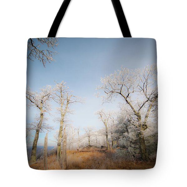 Hilltop Hoarfrost Tote Bag