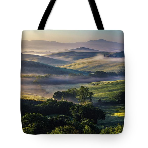Hilly Tuscany Valley Tote Bag