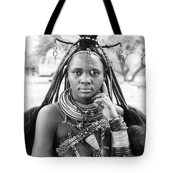 Himba Style Girl Tote Bag