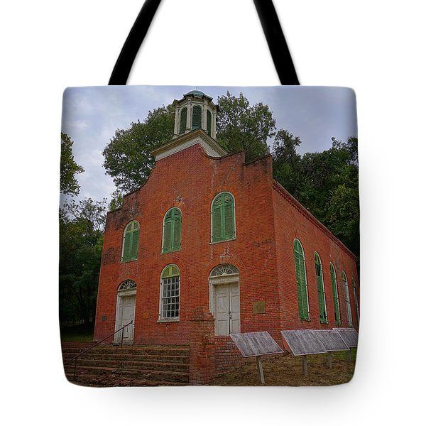 Historic Church Image Tote Bag