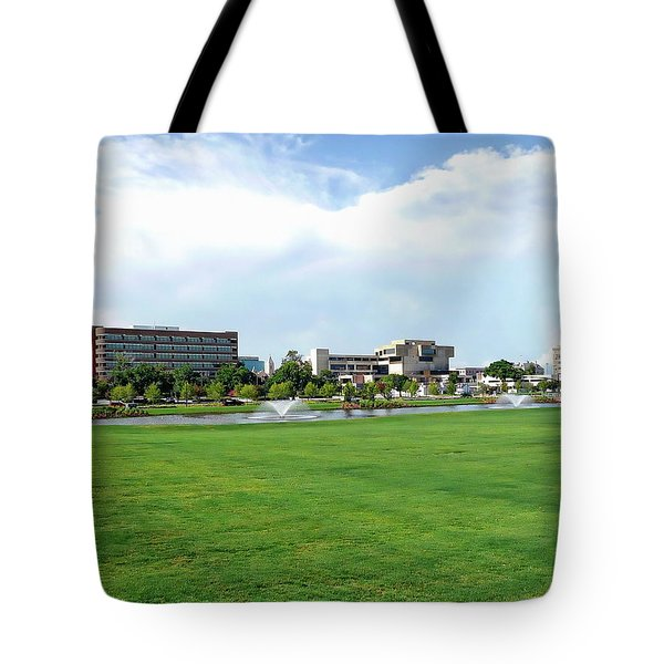 Tote Bag featuring the photograph Historic Downtown Pensacola  by Anthony Dezenzio