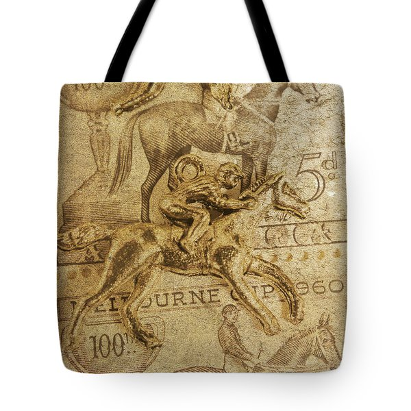 Historic Horse Racing Tote Bag