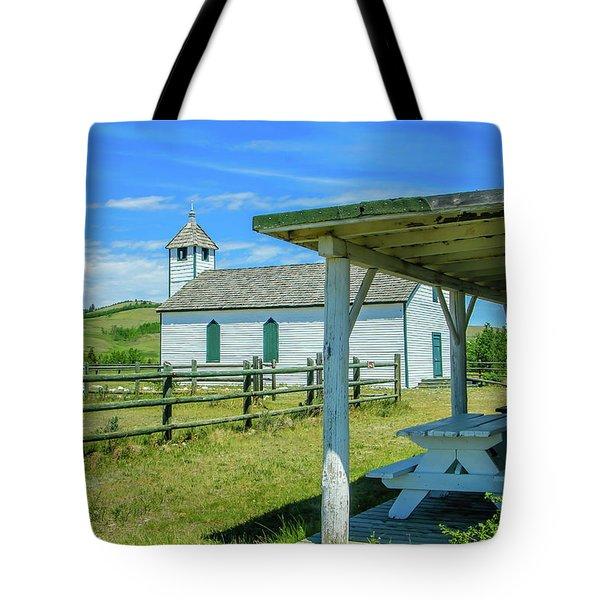 Historic Mcdougall Church, Morley, Alberta, Canada Tote Bag