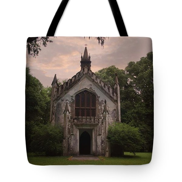 Historic Mississippi Church In The Woods Tote Bag