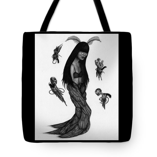 Tote Bag featuring the drawing Hitome Miyamoto - Artwork by Ryan Nieves