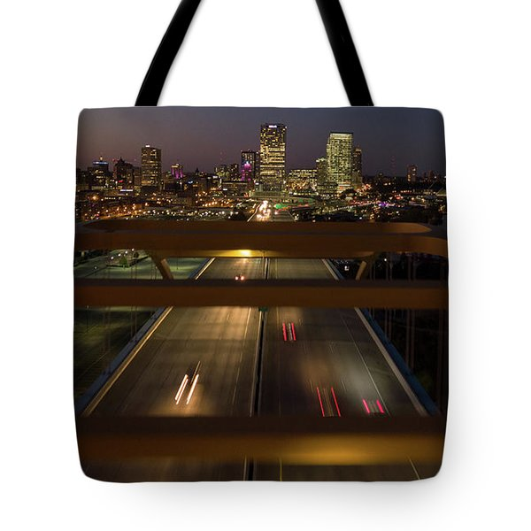 Tote Bag featuring the photograph Hoan View by Randy Scherkenbach