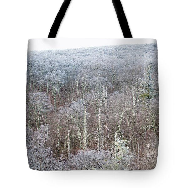 Hoarfrost In The Tree Tops Tote Bag