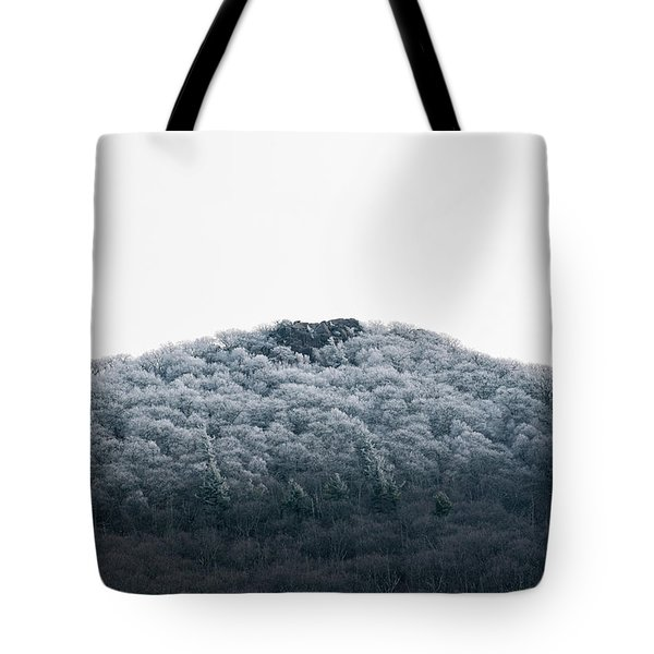 Hoarfrost On The Mountain Tote Bag