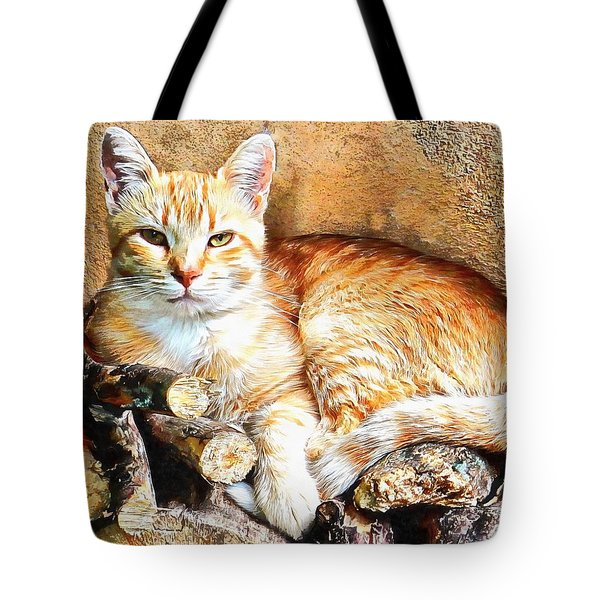 Hogarty The Ginger Cat Tote Bag