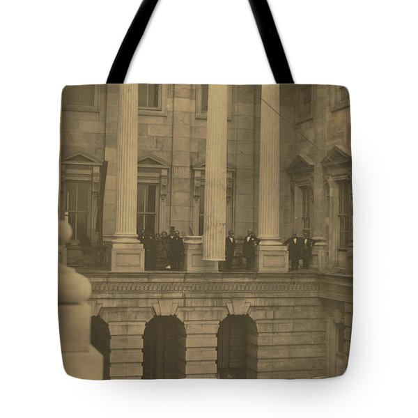 Hoisting Final Marble Column At United States Capitol Tote Bag