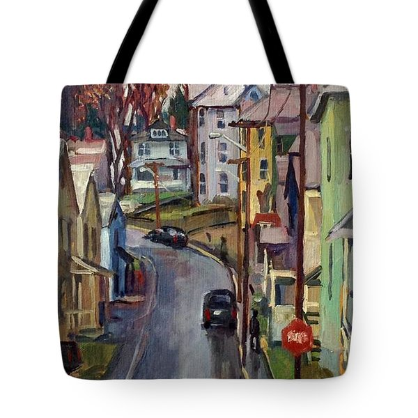 Holden Street Autumn Rain Tote Bag