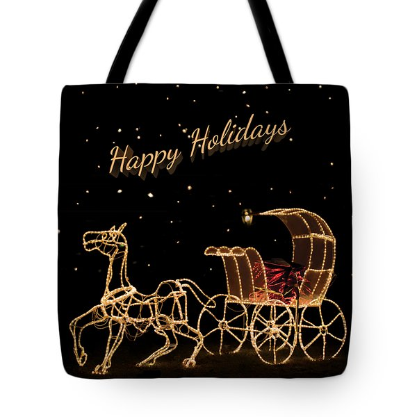 Holiday Carriage Tote Bag
