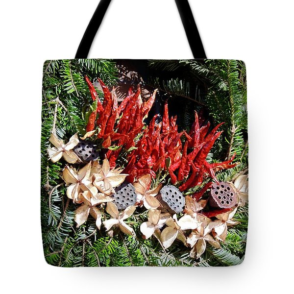 Tote Bag featuring the photograph Holiday Peppers by Don Moore