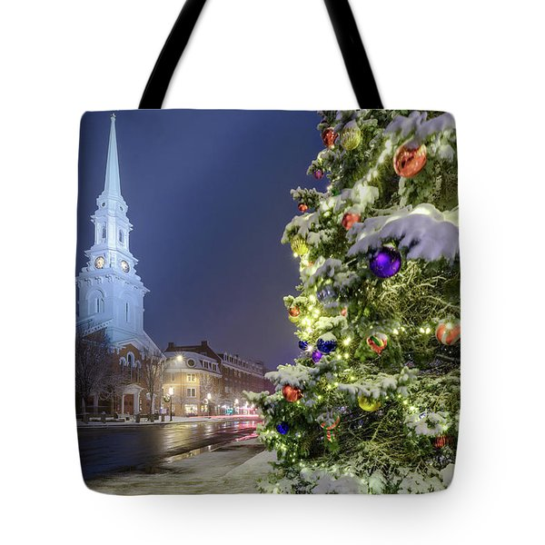 Holiday Snow, Market Square Tote Bag