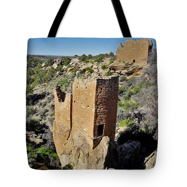 Holly Tower At Hovenweep Tote Bag