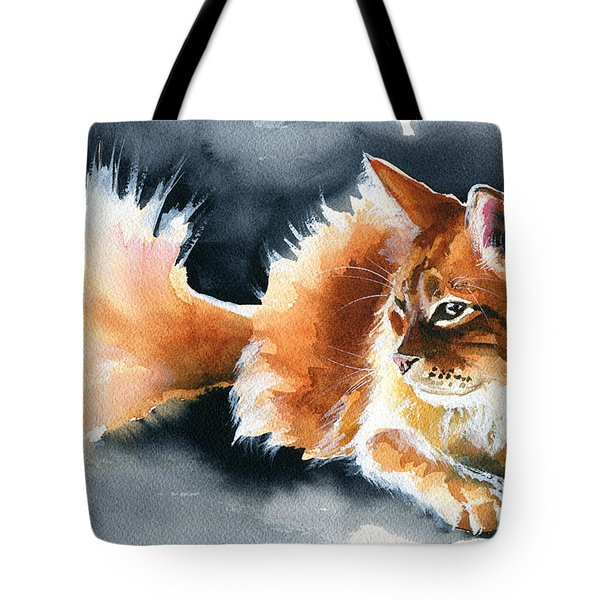 Holy Ginger Fluff - Cat Painting Tote Bag