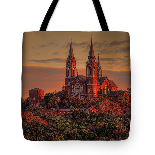 Tote Bag featuring the photograph Holy Hill Sunrise by Dale Kauzlaric