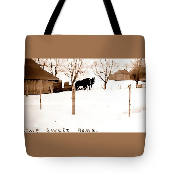 Tote Bag featuring the photograph Home Sweet Home 1917 by Jerry Sodorff