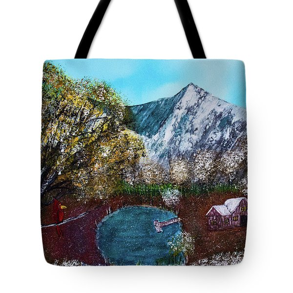 Tote Bag featuring the painting Home Time by Randy Sylvia