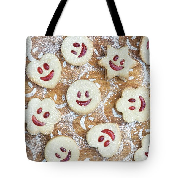 Tote Bag featuring the photograph Homemade Jammie Dodgers by Tim Gainey