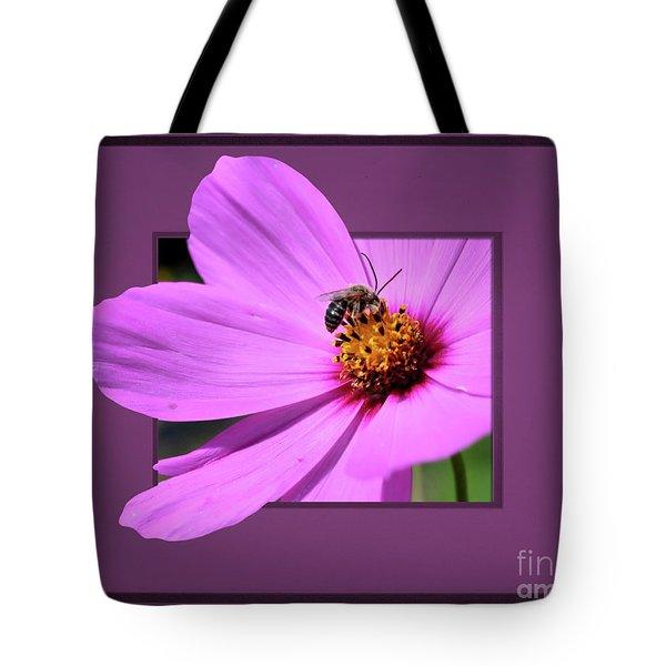 Honey Bee On Pink Tote Bag