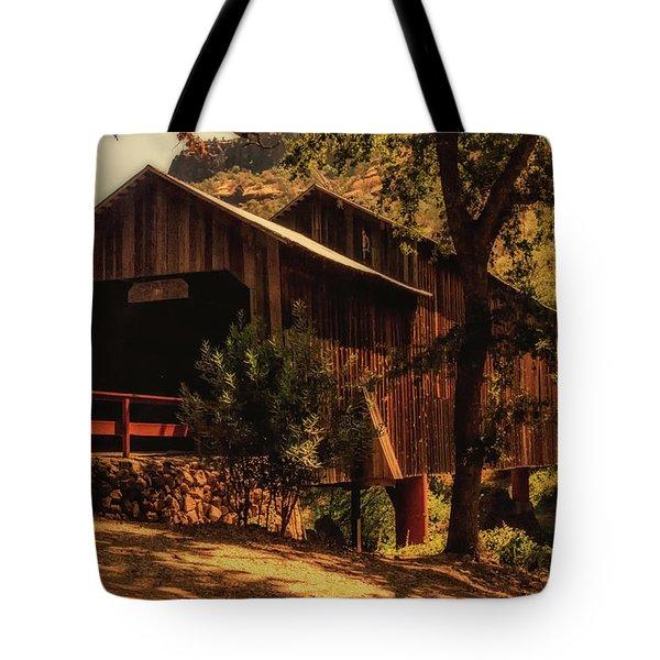 Honey Run Covered Bridge Tote Bag