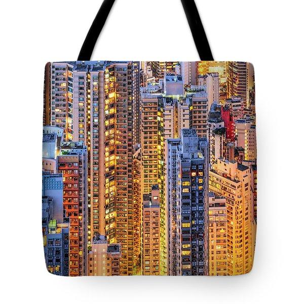 Hong Kong 34 Tote Bag
