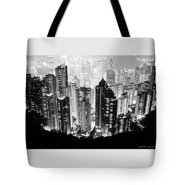 Hong Kong Nightscape Tote Bag