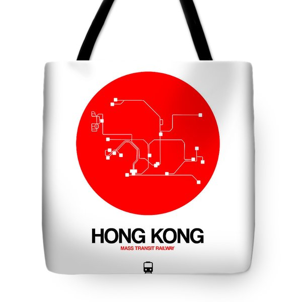 Hong Kong Red Subway Map Tote Bag