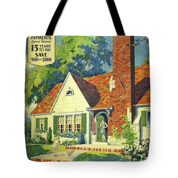 Honor Bilt Modern Homes Sears Roebuck And Co 1930 Tote Bag