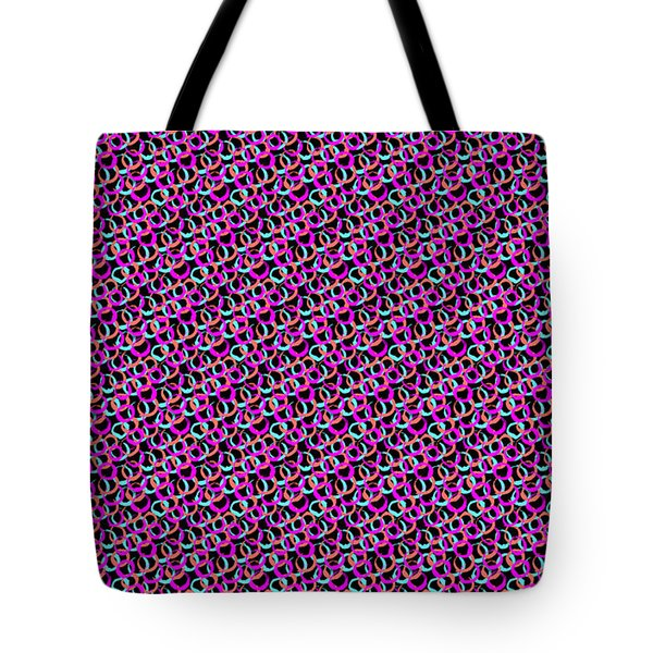 Tote Bag featuring the digital art Hoops And Loops by Bee-Bee Deigner