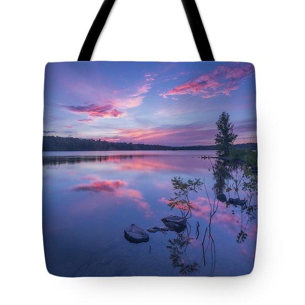 Horn Pond Sunset Tote Bag
