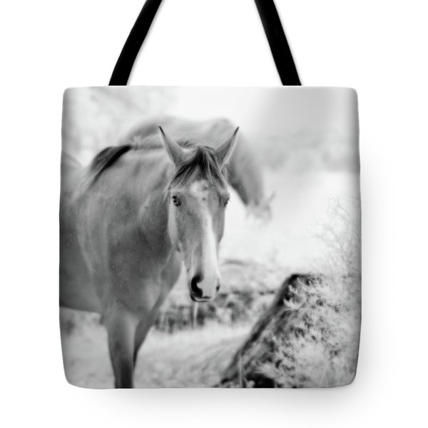 Horse In Infrared Tote Bag