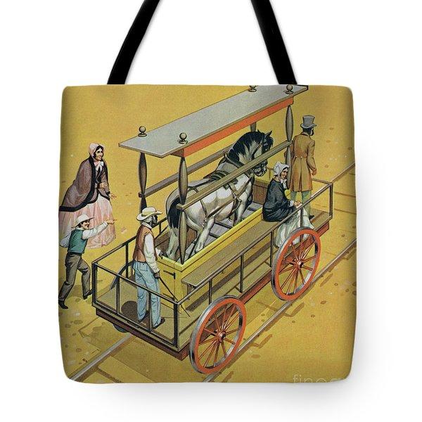 Horse Powered Locomotive Tote Bag