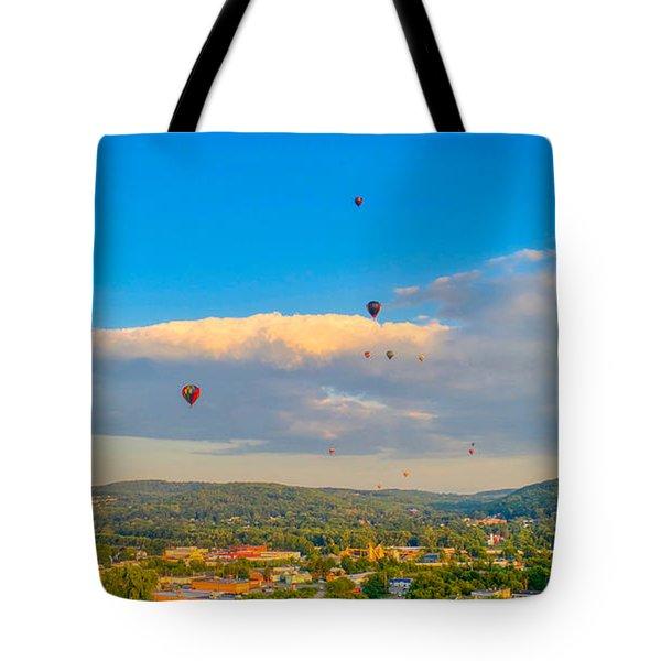 Hot Air Ballon Cluster Tote Bag