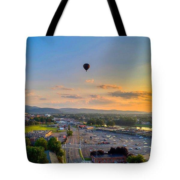 Hot Air Ballon Sunset Tote Bag