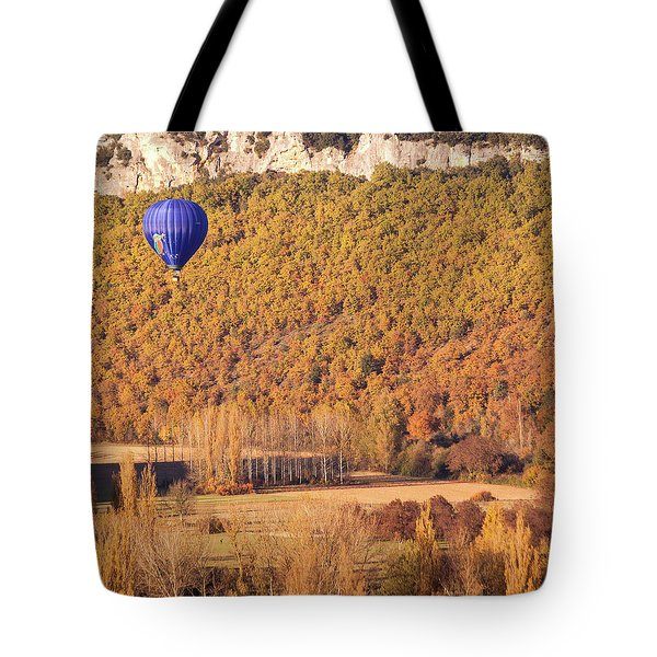 Hot Air Balloon, Beynac, France Tote Bag