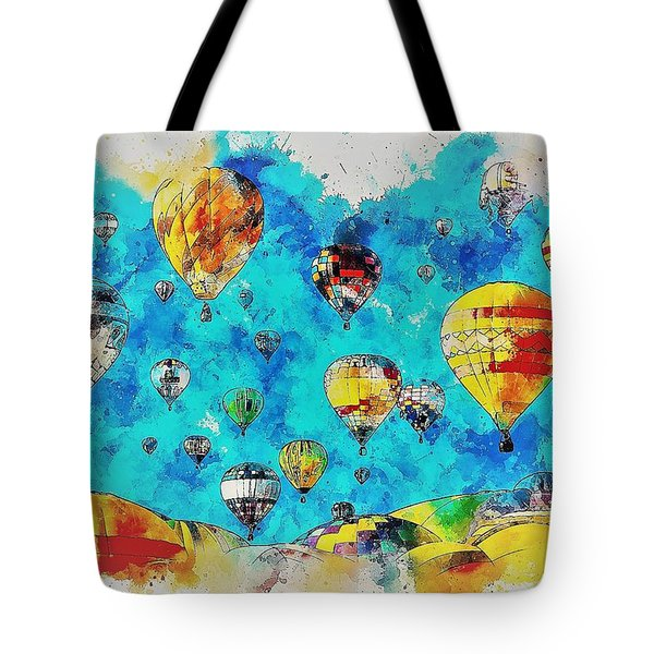 Hot Air Balloon Festival Tote Bag