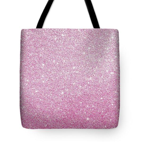 Hot Pink Glitter Tote Bag