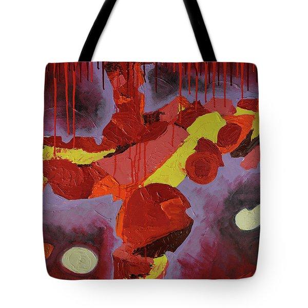 Hot Red Tote Bag