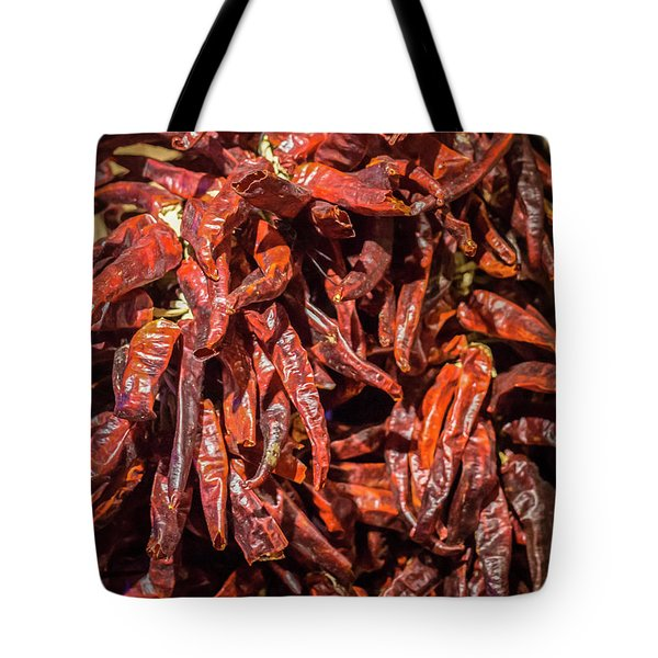 Hot Spicy Peppers Tote Bag