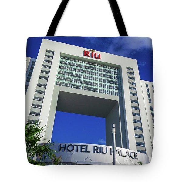 Hotel Riu Palace In Cancun Tote Bag